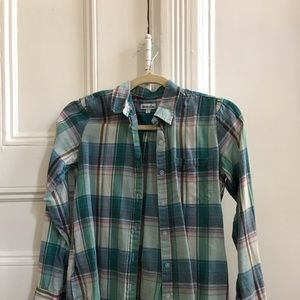 Steven Alan Button Down Plaid Shirt